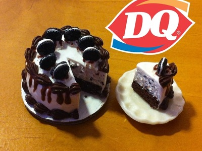Dairy Queen Inspired Oreo Cookie Ice Cream Cake:Polymer Clay Tutorial