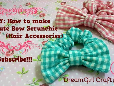DDIY: How to make a Cute Bow Scrunchie(Hair Accessories)