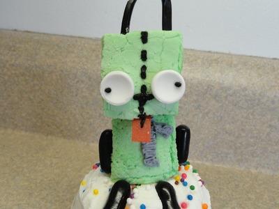 Decorating Cupcakes #88: Gir (Invader Zim)