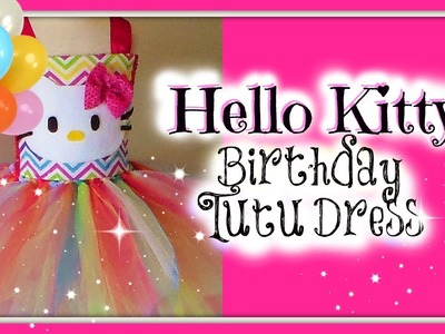 D.I.Y. Hello Kitty Birthday Tutu Dress Tutorial