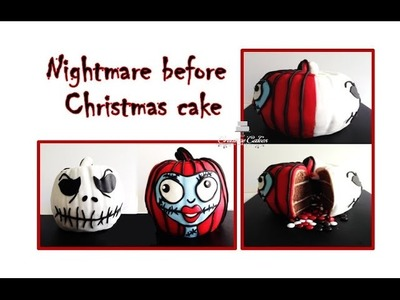 Halloween Cake Nightmare before Christmas 3D Inside Surprise Cake (How to make)