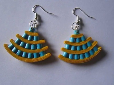 Handmade Jewelry - Paper Quilling Egyptian Earrings (Not Tutorial)