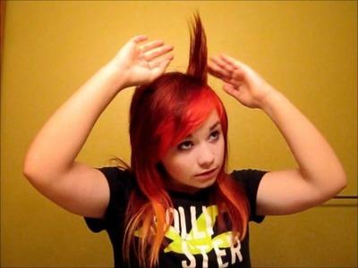 Hayley Williams Hair Tutorial (Crested Bangs)