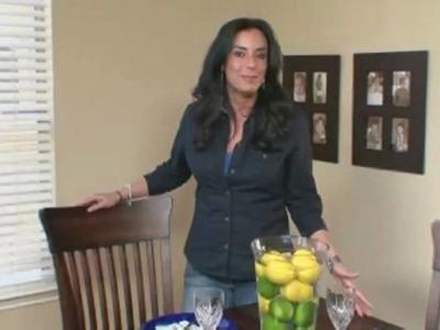 Home Decor Ideas : Lemon Lime Centerpiece Idea - Home Made Simple