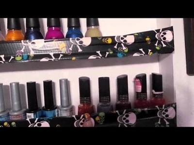 Homemade nail polish rack