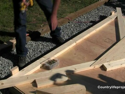 How to Build a Shed - Video 4 of 15 - Building The Shed Trusses
