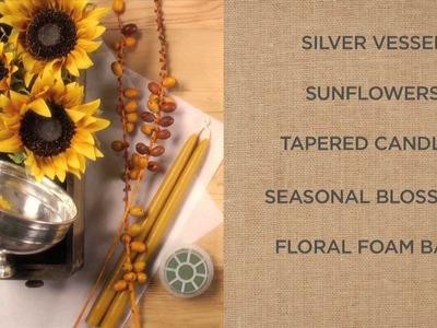 How to Create a Beautiful Candle Arrangement with Sunflowers | Pottery Barn
