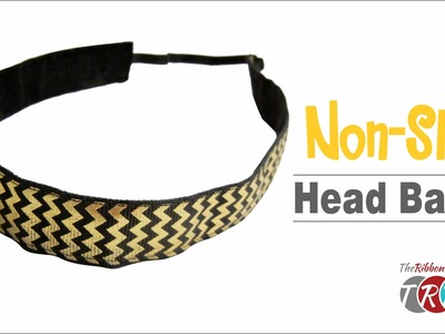How to Make a Non Slip Workout Headband - TheRibbonRetreat