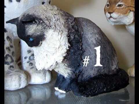 How to Make a Paper Mache Cat, Lesson #1