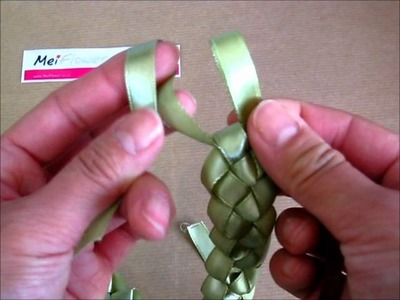 How to Make a Ribbon Wreath for Card Making using Sage Green Satin Ribbon