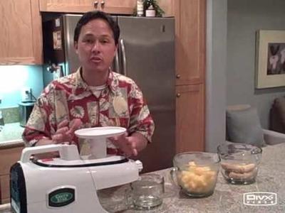 How to make banana and mango sorbet in the Green Star Elite GSE-5000 Juicer aka Banana Ice Cream