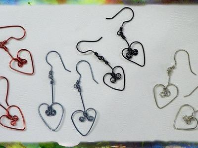 How to Make Dangling Heart-Shaped Earrings