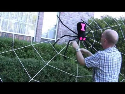 How to Setup Your Giant Halloween Spider Web - www.spiderwebman.net