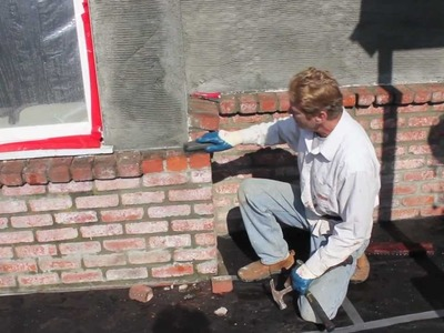 How to stucco over brick walls