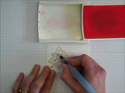 How to Use an Aqua Painter to Color a Stamped Image
