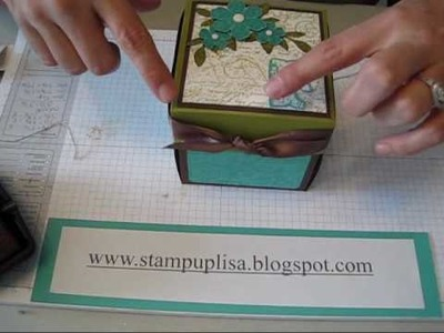Inside, Outside, and Lid of Explosion Box, part 3 Stampin UP