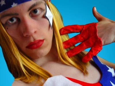 Lady Gaga Telephone American Flag Costume ✮ Sire Sasa tutorial 15