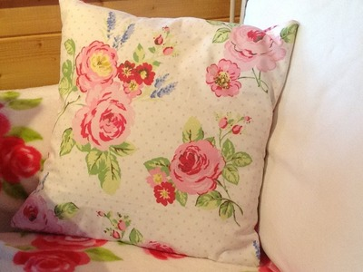Make a cushion cover in 30 minutes part 1.
