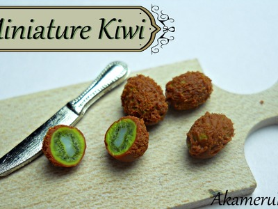 Miniature Kiwi tutorial - Polymer clay cane