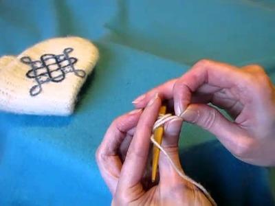 Nalbinding 10, Thumb loops - Neulakinnas, peukalosilmukat