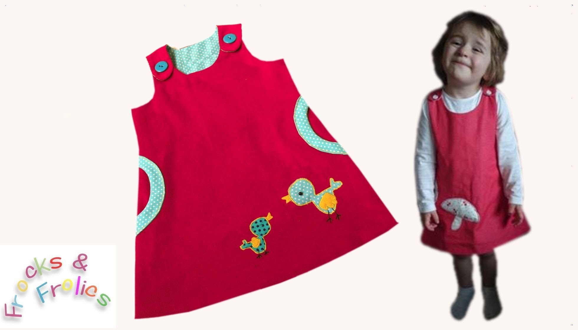 Pinafore Dress 'Megan's Baby Bird' - How to sew