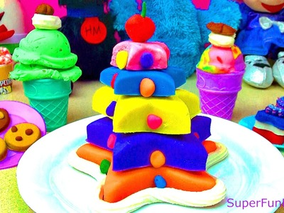 Play Doh Star Layer Cake Playdough Dessert Play-doh Ice Cream Cone Play Doh Cookies Cookie Monster