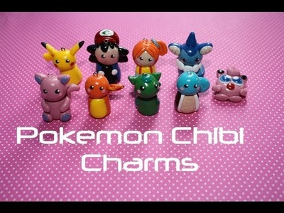 Pokemon Chibi Charms - Polymer Clay