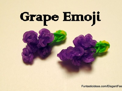 Rainbow Loom Grapes fruit charm - How to -emoji.emoticon