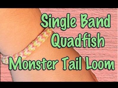 Rainbow Loom: Monster Tail Single Band Quadfish Tutorial
