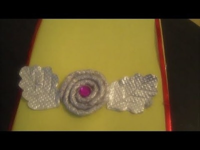Recycling : Silver foil paper rolling flower