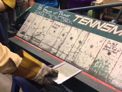Sheet metal on the box and pan brake 101