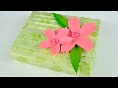 Spring Gift Wrapping with Cherry Blossoms