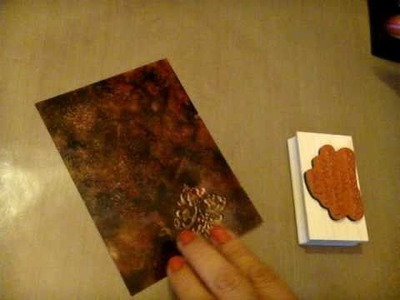 Stamping and Heat Embossing on Acetate