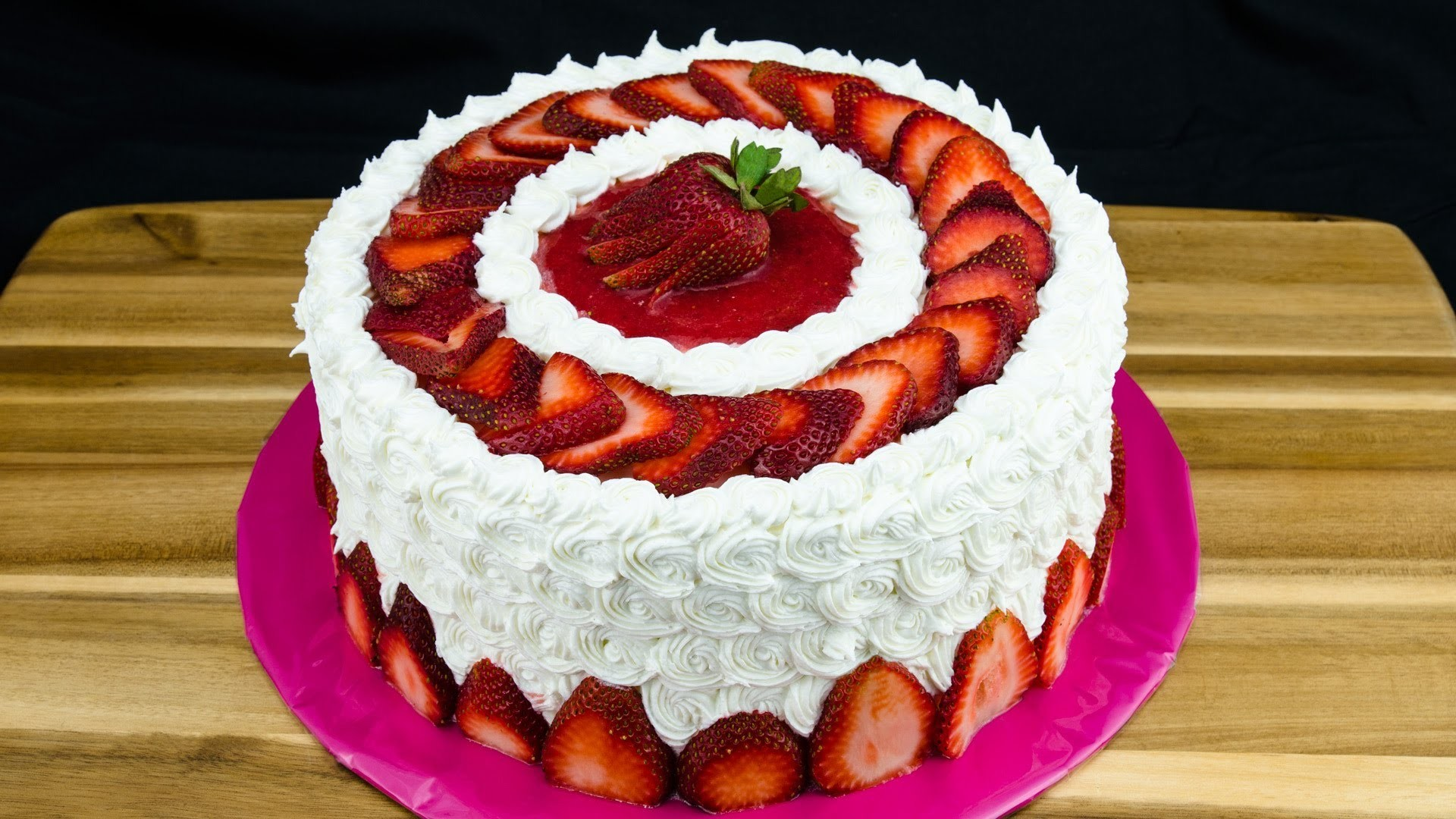 Strawberry Cake Recipe: How to Make Strawberry Cake by Cookies Cupcakes and Cardio