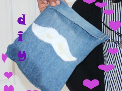 The easiest!!! diy jean cross body bag (from old jeans)
