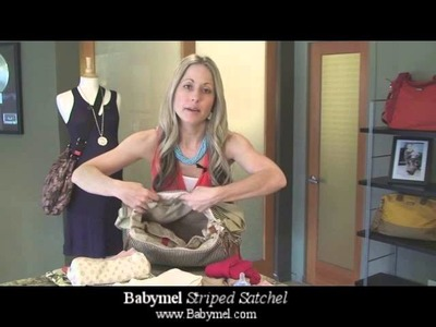 Babymel Bag Series - Striped Satchel