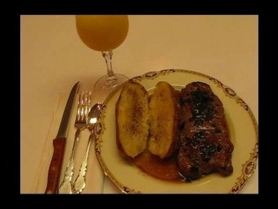 Betty's Peppercorn Steaks with Bourbon Sauce
