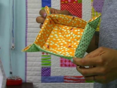 Catch-All Fabric Basket Tutorial- DIY