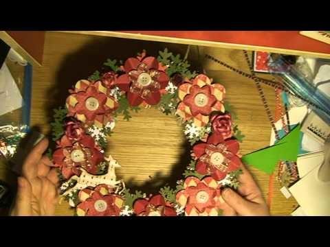 Christmas ornaments - decorations - wreath, ball, globe, julkrans, boll, magolia, die, owl.mpg