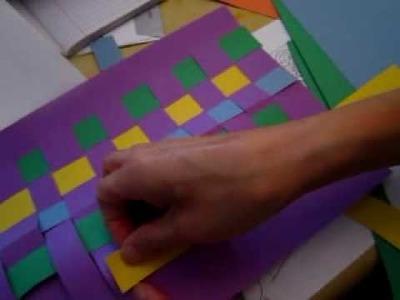 Classplan - trying paper weaving
