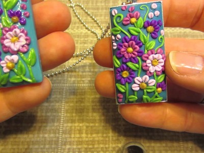 Clay Applique Box and Pendants