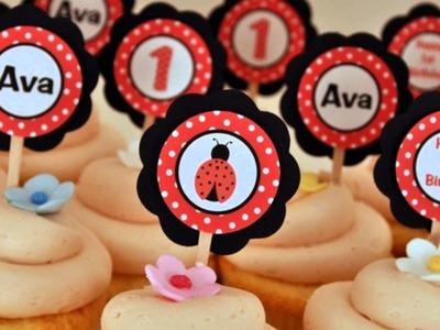 Cupcake Ideas: Custom Cupcake Toppers
