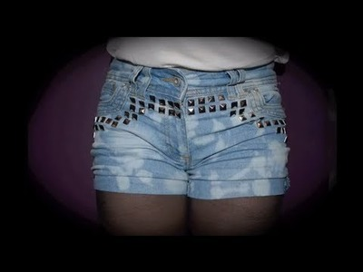 ♥ D.I.Y - Edgy Bleached Shorts ♥