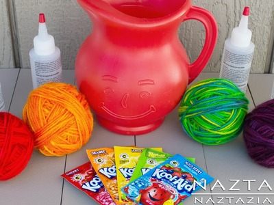 DIY Learn How To Hand Paint Dye Yarn with Kool Aid Easy Tutorial - Dyed KoolAid Kool-Aid Rainbow