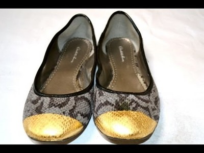 DIY Metal-capped ballet flats - Natalie's Creations