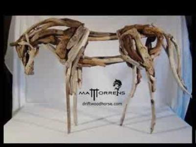 Driftwood horse, the making of.  Matt Torrens