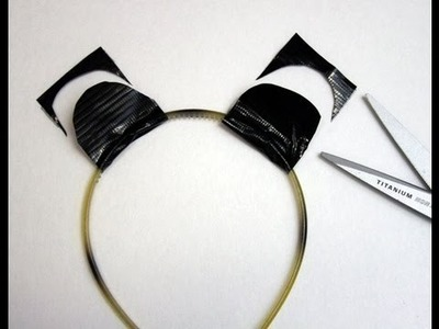 Duct Tape Tutorial: Animal Ears Headband - Panda Halloween Costume