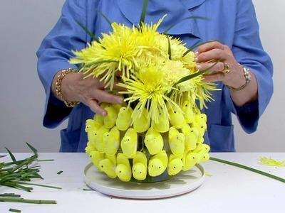 Easter Peeps in a Flower Arrangement!
