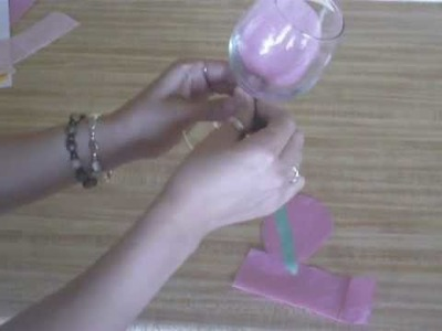 Flower wine glass party favor