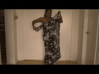 Glitter 'N Glue: DIY One Shoulder Wrap Dress